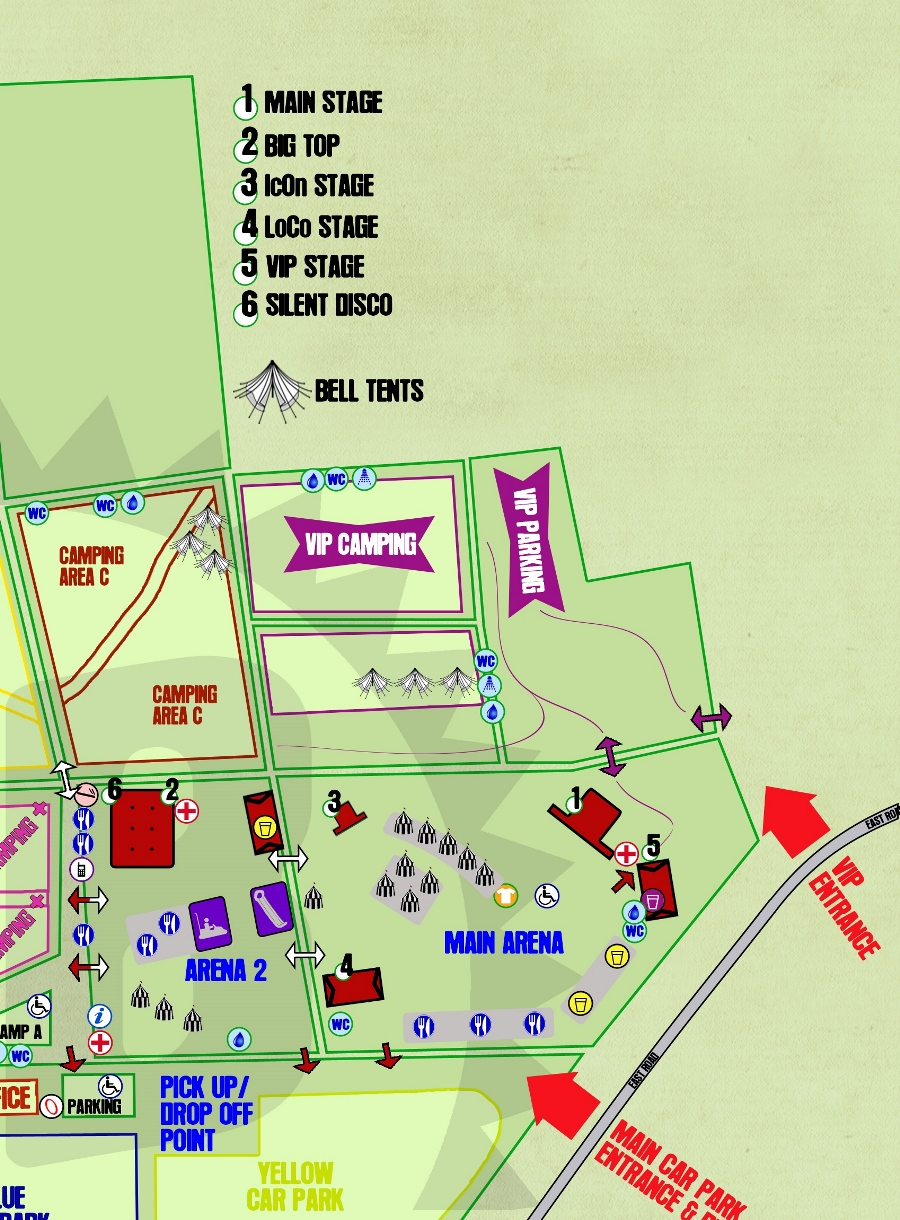 customer map glastonbudget vip tribute band festival glamping