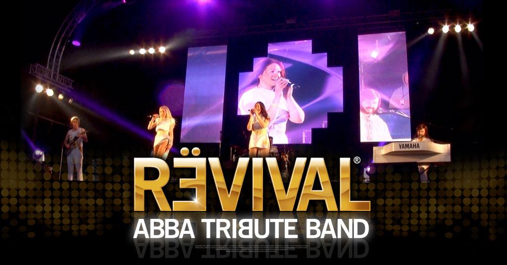 ABBA Revival 70's Glastonbudget Tribute Band Festival main