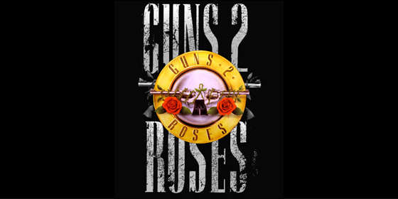 Guns 2 Roses Guns N Roses Tribute Band Glastonbudget Tribute Festival 2015 logo
