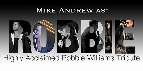 Mike As RobbieTribute Robbie Williams Glastonbudget Tribute Band Festival logo