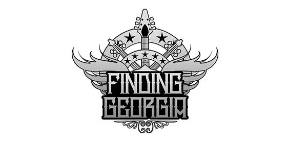 logo FINDING GEORGIA Original Band Glastonbudget Tribute Band Music Festival logo