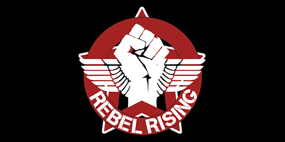 Rebel Rising Original Band Glastonbudget Tribute Band Music Festival logo