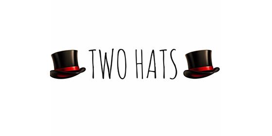 logo TWO HATS Original Band Glastonbudget Tribute Band Music Festival logo