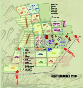 web customer map Glastonbudget Tribute Music Festival 2018