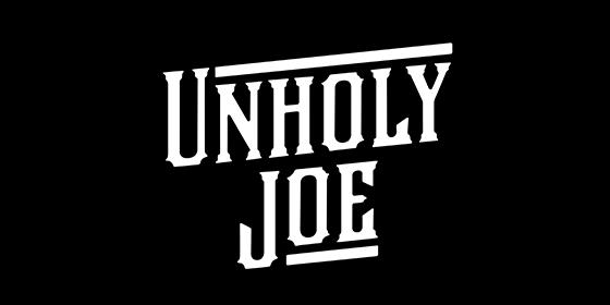 logo UNHOLY JOE Original Band Glastonbudget Tribute Band Music Festival logo